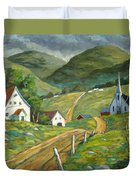The Green Hills Duvet Cover