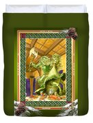 The Green Knight Christmas Card Duvet Cover