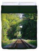The Green Line Railroad Track Art Duvet Cover