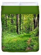 The Green Path Duvet Cover