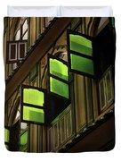 The Green Windows Duvet Cover