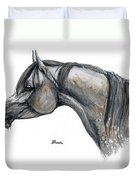 The Grey Arabian Horse 11 Duvet Cover