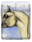 The Grey Arabian Horse 12 Duvet Cover