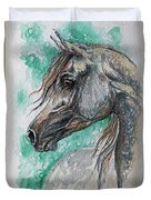 The Grey Arabian Horse 13 Duvet Cover