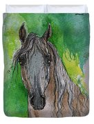 The Grey Arabian Horse 17 Duvet Cover