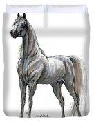 the Grey arabian horse 7 Duvet Cover