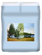The Grey Camp Beech Hill Pond Duvet Cover