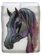 The Grey Horse Drawing 1 Duvet Cover