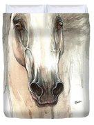 The Grey Horse Portrait 2014 02 10 Duvet Cover