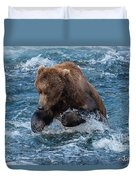 The Grizzly Plunge Duvet Cover