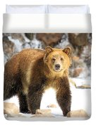 The Grizzly Strut Duvet Cover