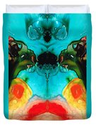 The Guardians - Visionary Art By Sharon Cummings Duvet Cover by Sharon Cummings