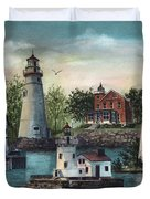 The Guiding Lights Of Ohio Duvet Cover
