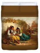 The Gypsies Duvet Cover by Thomas Kent Pelham
