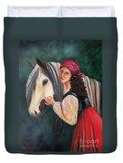 The Gypsy's Vanner Horse Duvet Cover