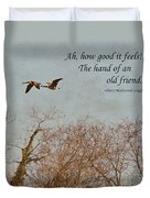 The Hand Of Friendship Duvet Cover