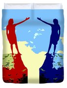 The Hand Of Friendship Duvet Cover by Patrick J Murphy