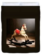 The Happy Little Rocking Horse In The Attic Duvet Cover