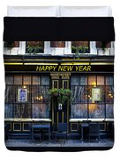 The Happy New Year Pub Duvet Cover