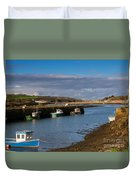 The Harbour At Hayle Cornwall Duvet Cover