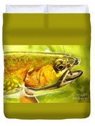 The Hare And The Trout Duvet Cover