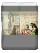 The Harem, Plate 1 From Illustrations Duvet Cover by John Frederick Lewis