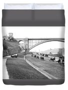 The Harlem River Speedway Duvet Cover