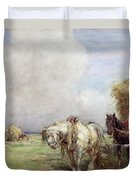 The Hay Wagon Duvet Cover