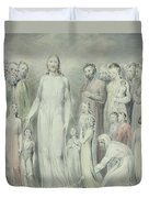 The Healing Of The Woman With An Issue Of Blood Duvet Cover by William Blake