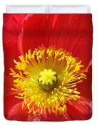 The Heart Of A Red Poppy Duvet Cover