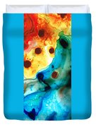 The Heart's Desire - Colorful Abstract By Sharon Cummings Duvet Cover by Sharon Cummings