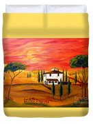 The Heat Of Tuscany Duvet Cover