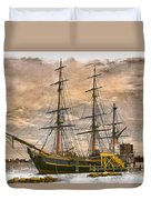 The Hms Bounty Duvet Cover by Debra and Dave Vanderlaan