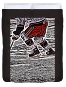 The Hockey Player Duvet Cover