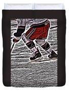 The Hockey Player Duvet Cover by Karol Livote