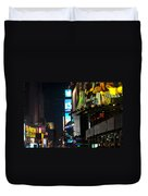 The Holidays In Time Square Duvet Cover