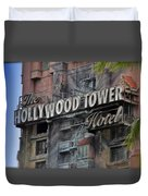 The Hollywood Hotel Signage Duvet Cover