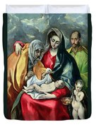 The Holy Family With St Elizabeth Duvet Cover