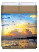 The Honeymoon - Sunset Art By Sharon Cummings Duvet Cover