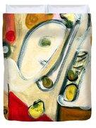 The Horn Player Duvet Cover