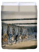 The Horse Armour Tower, Print Made Duvet Cover