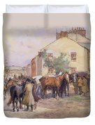 The Horse Fair  Duvet Cover by John Atkinson