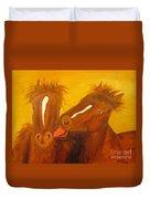 The Horse Kiss - Original Oil Painting Duvet Cover