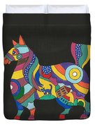 The Horse Of Good Fortune Duvet Cover