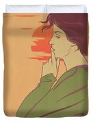 The Hour Of Silence Duvet Cover by Henri Georges Jean Isidore Meunier