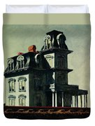 The House By The Railroad Duvet Cover