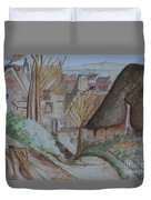 The House Of The Hanged Man After Cezanne Duvet Cover