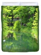 The House On The Bank Of The Lake Duvet Cover