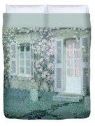 The House With Roses Duvet Cover