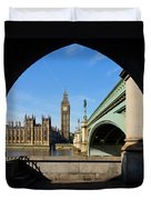 The Houses Of Parliament In London Duvet Cover